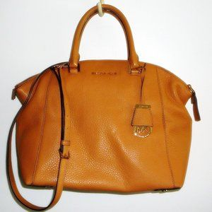 Peanut Leather 3 Slot Satchel Handbag Shoulder Bag